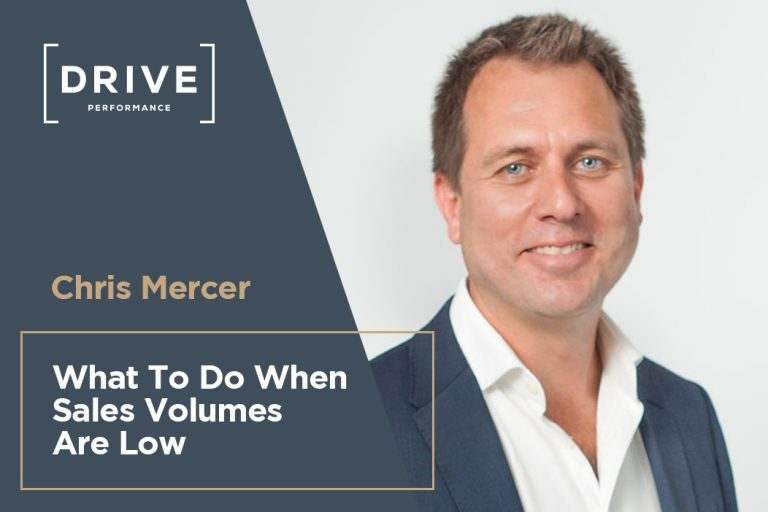 Chris Mercer – What to do when sales volumes are low